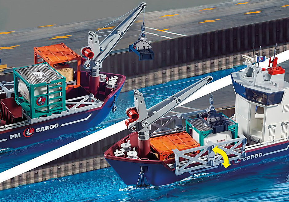 70769 Duży kontenerowiec z łodzią służb celnych detail image 5