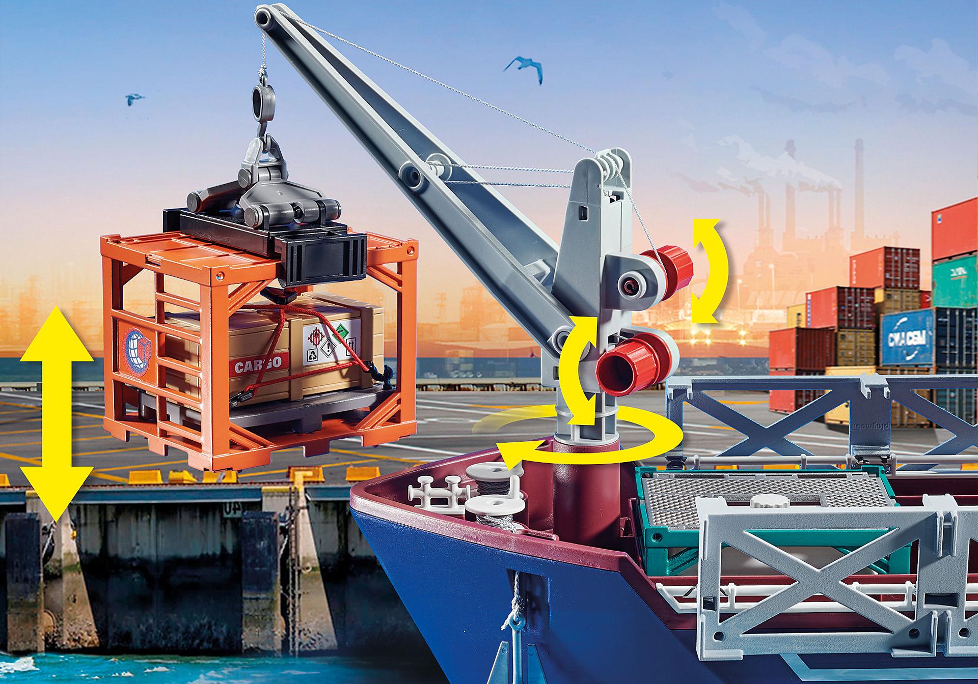 70769 Duży kontenerowiec z łodzią służb celnych zoom image7