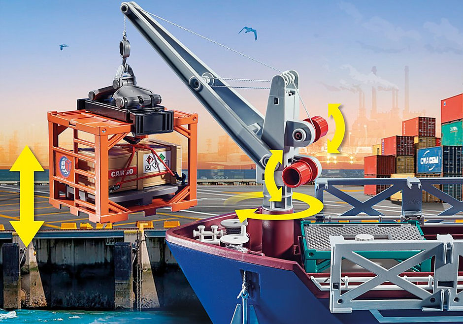 70769 Großes Containerschiff mit Zollboot detail image 8