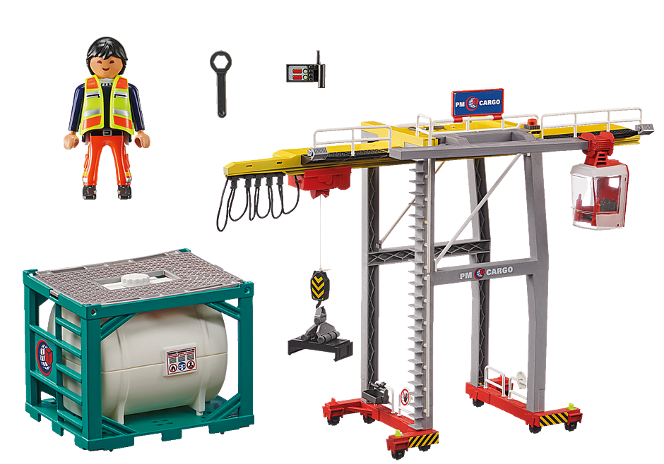70770 Cargo Crane with Container detail image 3