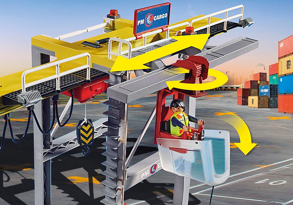 70770 Cargo Crane with Container detail image 4