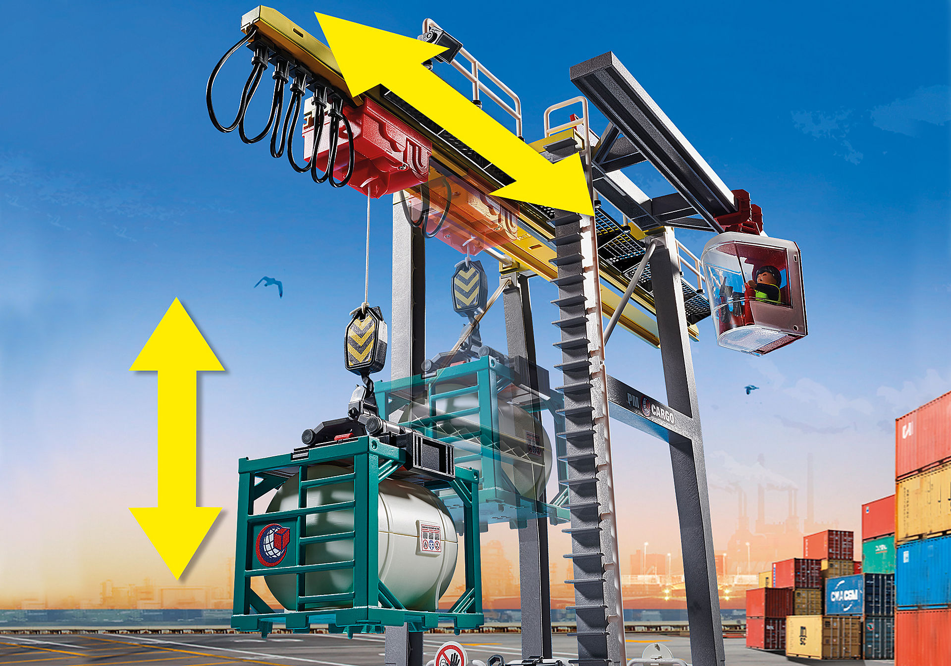 70770 Cargo Crane with Container zoom image6