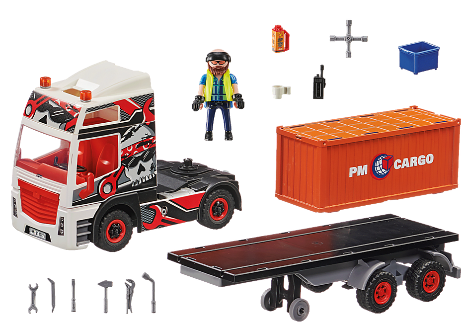 70771 Truck with Cargo Container detail image 3