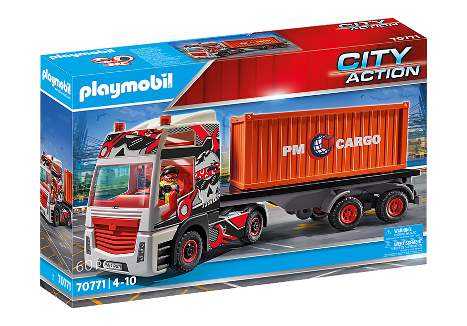 70771 Truck with Cargo Container detail image 2