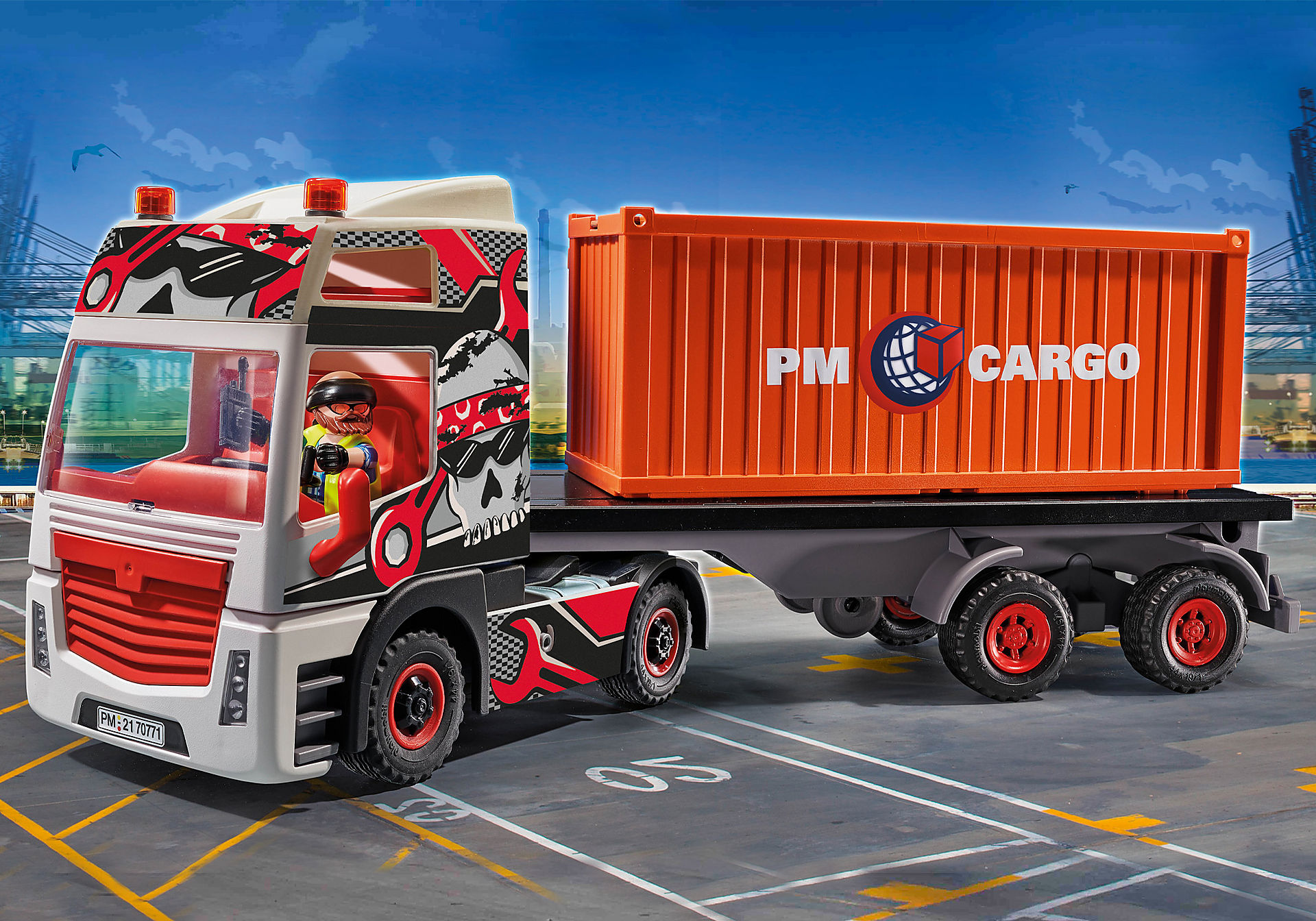 70771 Lastbil med lastcontainer zoom image1