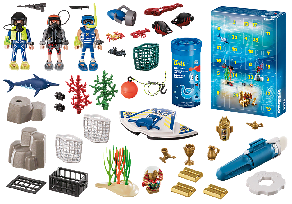 70776 Advent Calendar - Bathing Fun Police Diving Mission detail image 4