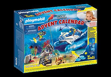 70776 Χριστουγεννιάτικο Ημερολόγιο - Παιχνίδι στην μπανιέρα με αστυνόμους