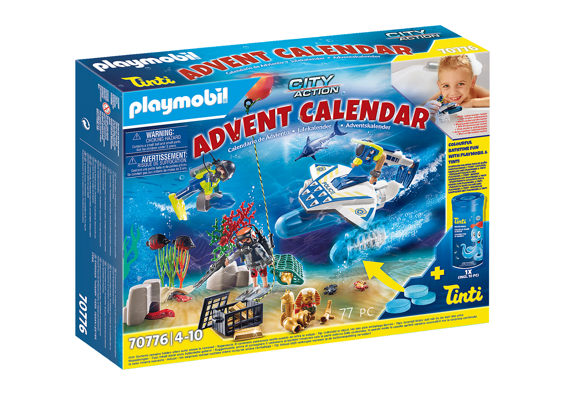 70776 Advent Calendar - Bathing Fun Police Diving Mission zoom image1