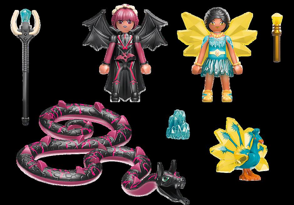 70803 Crystal Fairy en Bat Fairy met totemdieren detail image 4