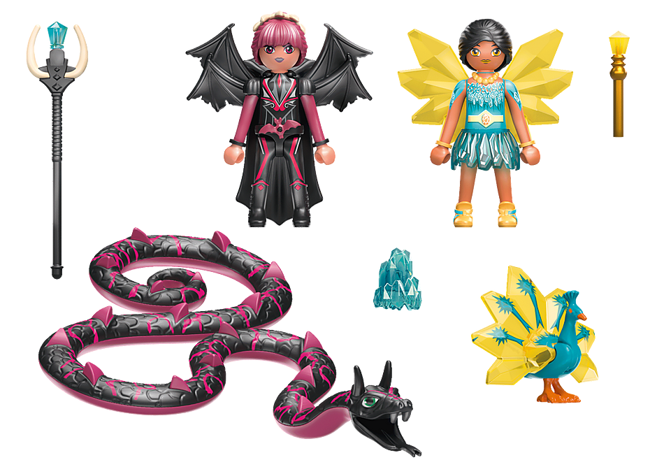 70803 Crystal Fairy et Bat Fairy avec animaux  detail image 4