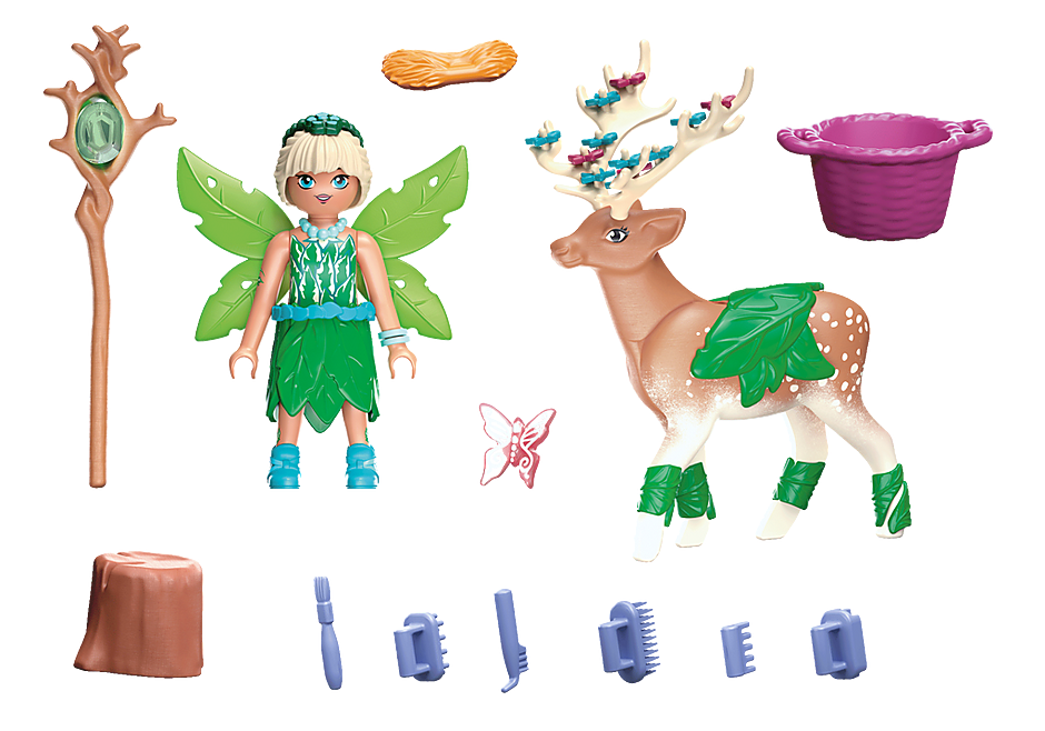 70806 Forest Fairy med totemdjur detail image 3