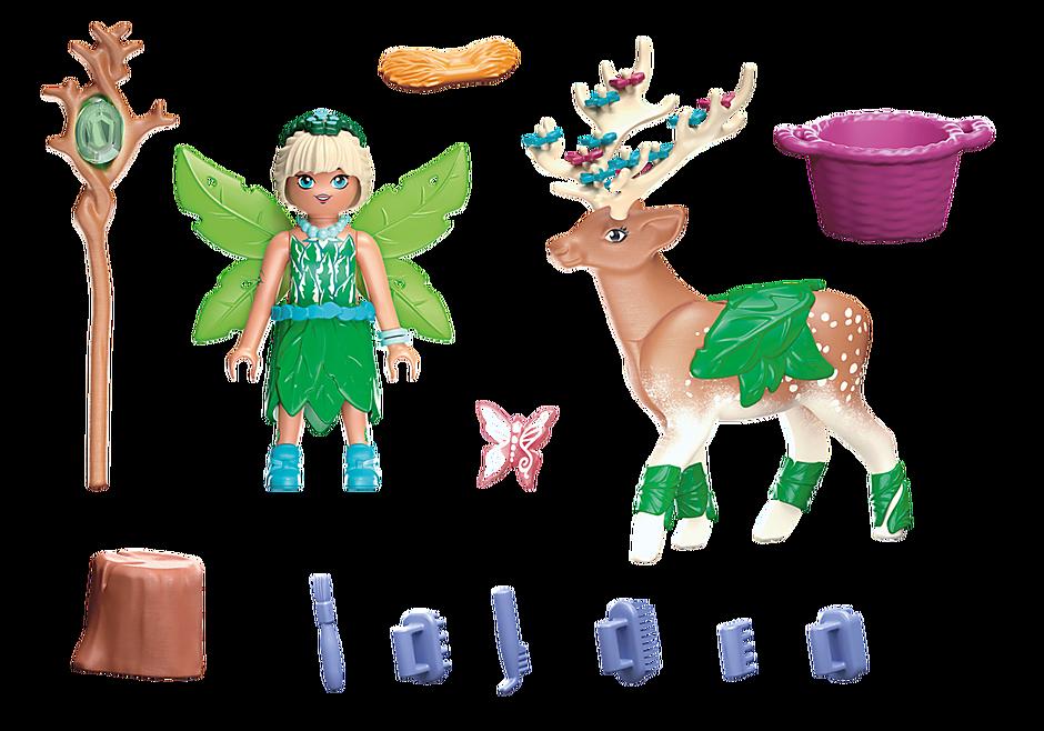70806 Forest Fairy med totemdyr detail image 3