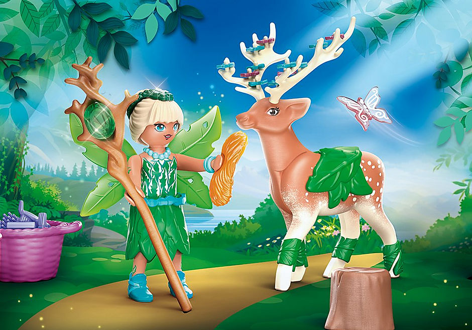 70806 Forest Fairy med totemdjur detail image 1