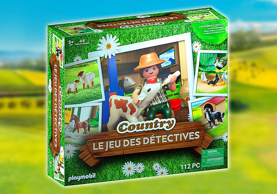 70852 Box PLAYMOBIL®: Le jeu de détective COUNTRY detail image 1