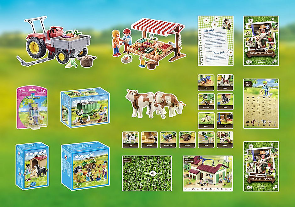 70853 PLAYMOBIL®Box: COUNTRY The detective game detail image 3