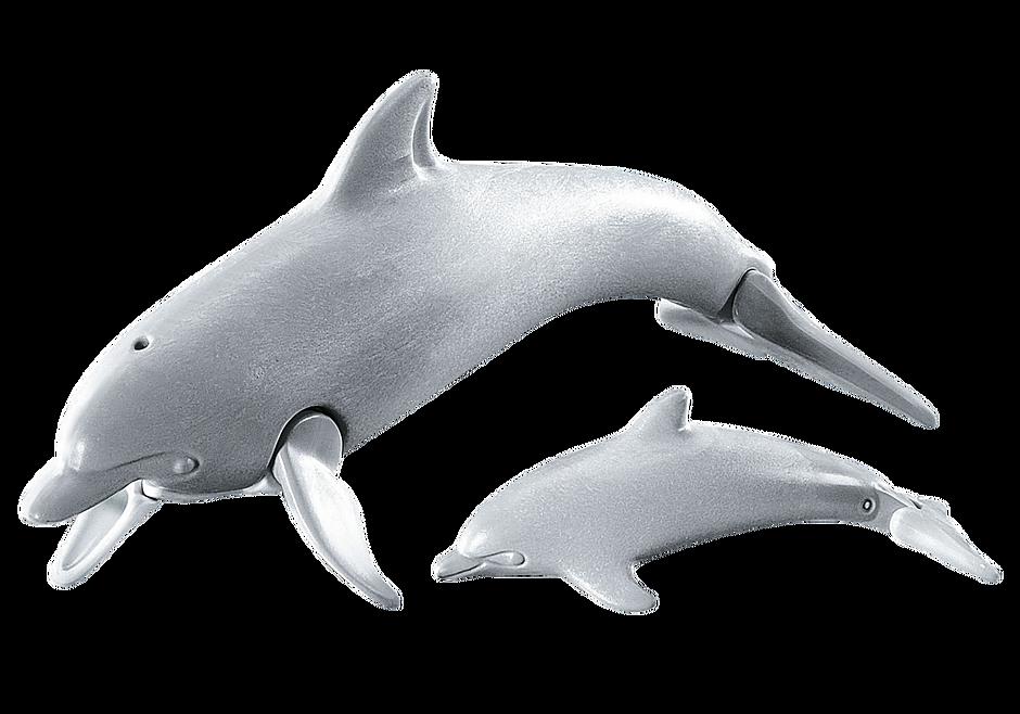 7363 Dolfijn met baby detail image 1