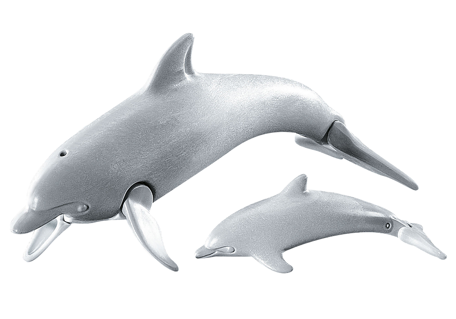 7363 Dolphin with baby detail image 1