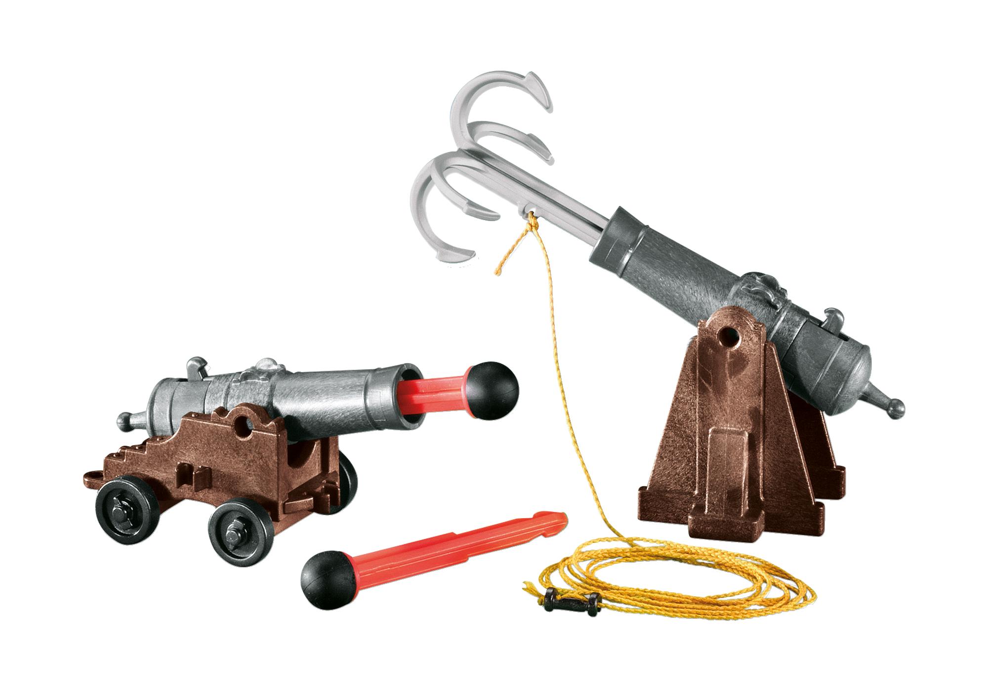 7373_product_detail/Kanon met enterhaak en kanon met kogels