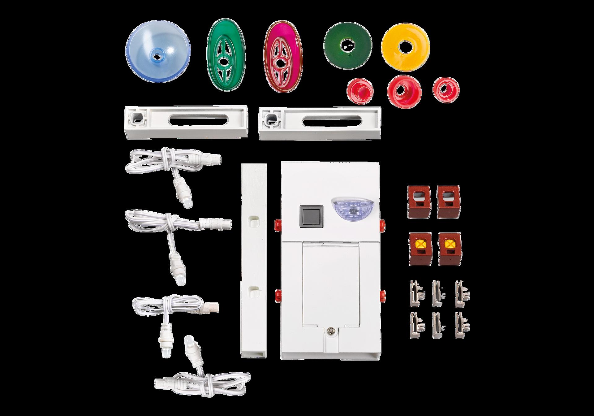 kit d clairage pour maison de ville 7484 playmobil. Black Bedroom Furniture Sets. Home Design Ideas