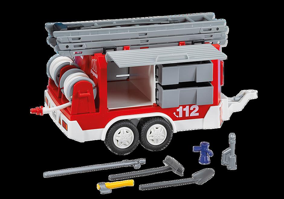 7485 Matériel de pompiers et remorque detail image 1