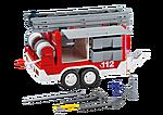 7485 Matériel de pompiers et remorque