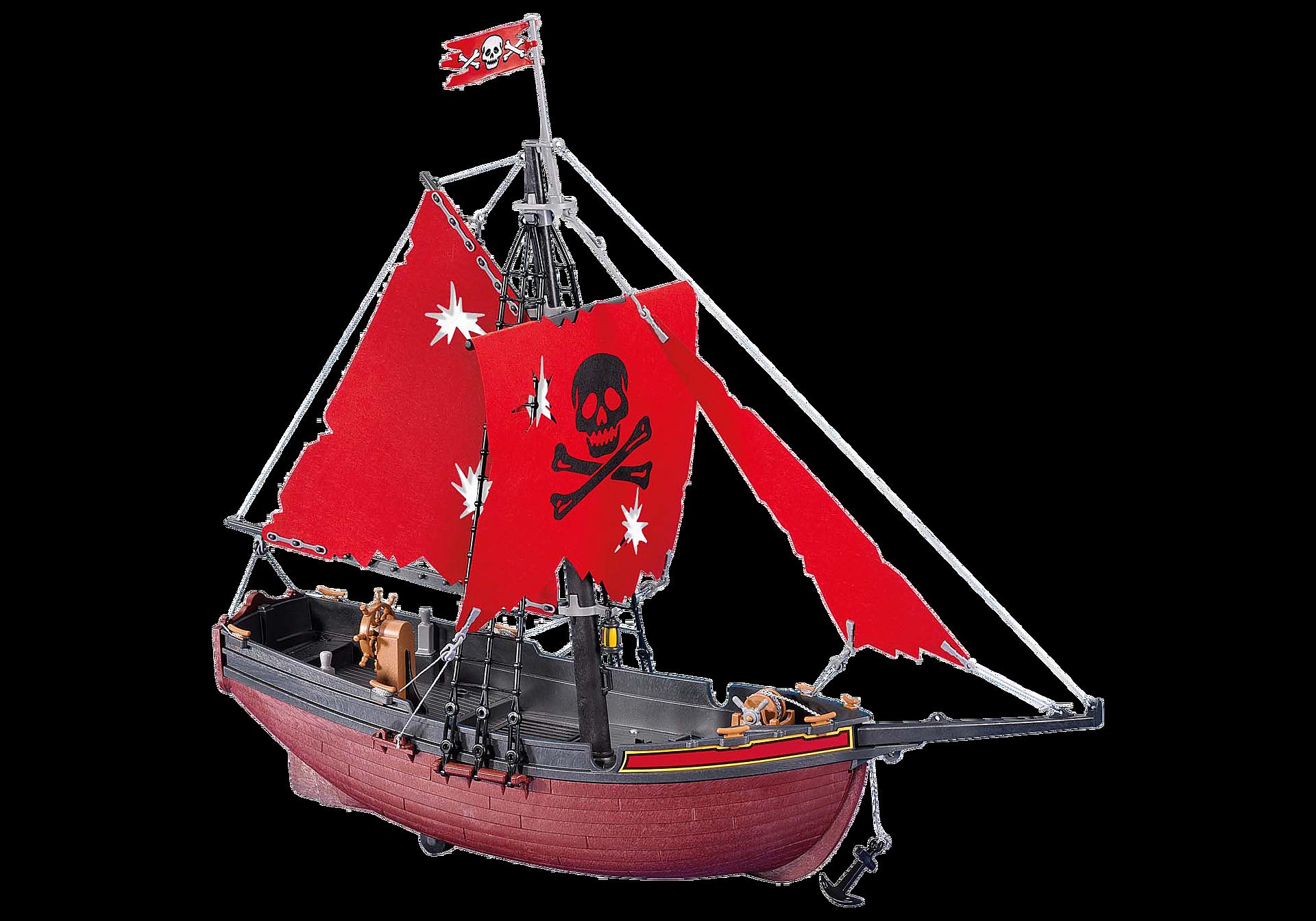 7518 Bateau corsaire rouge zoom image1