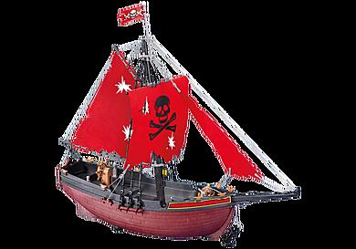 7518 Bateau corsaire rouge