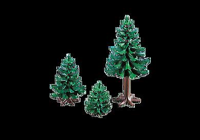 7725 Gruppe af fyrretræer