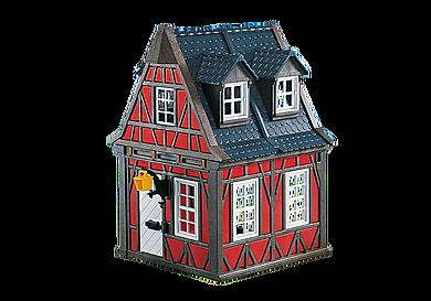 7785 Piros favázas ház