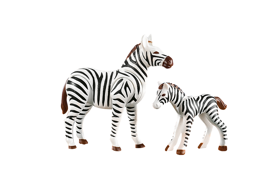 7898 Zebra con puledro detail image 1