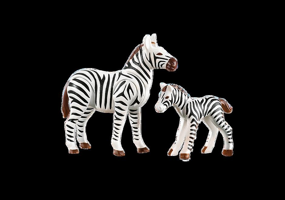 7898 Zebra met baby detail image 1