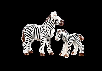 7898 Zebra met baby