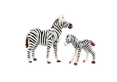 7898 Zebra mit Fohlen