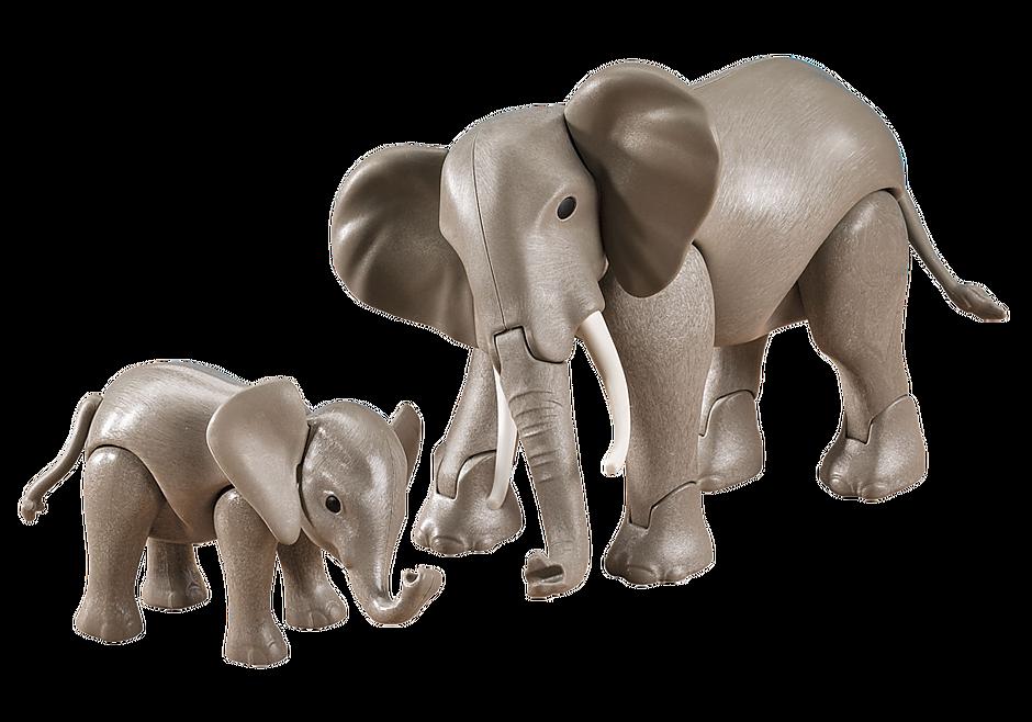7995 Éléphant et son petit detail image 1