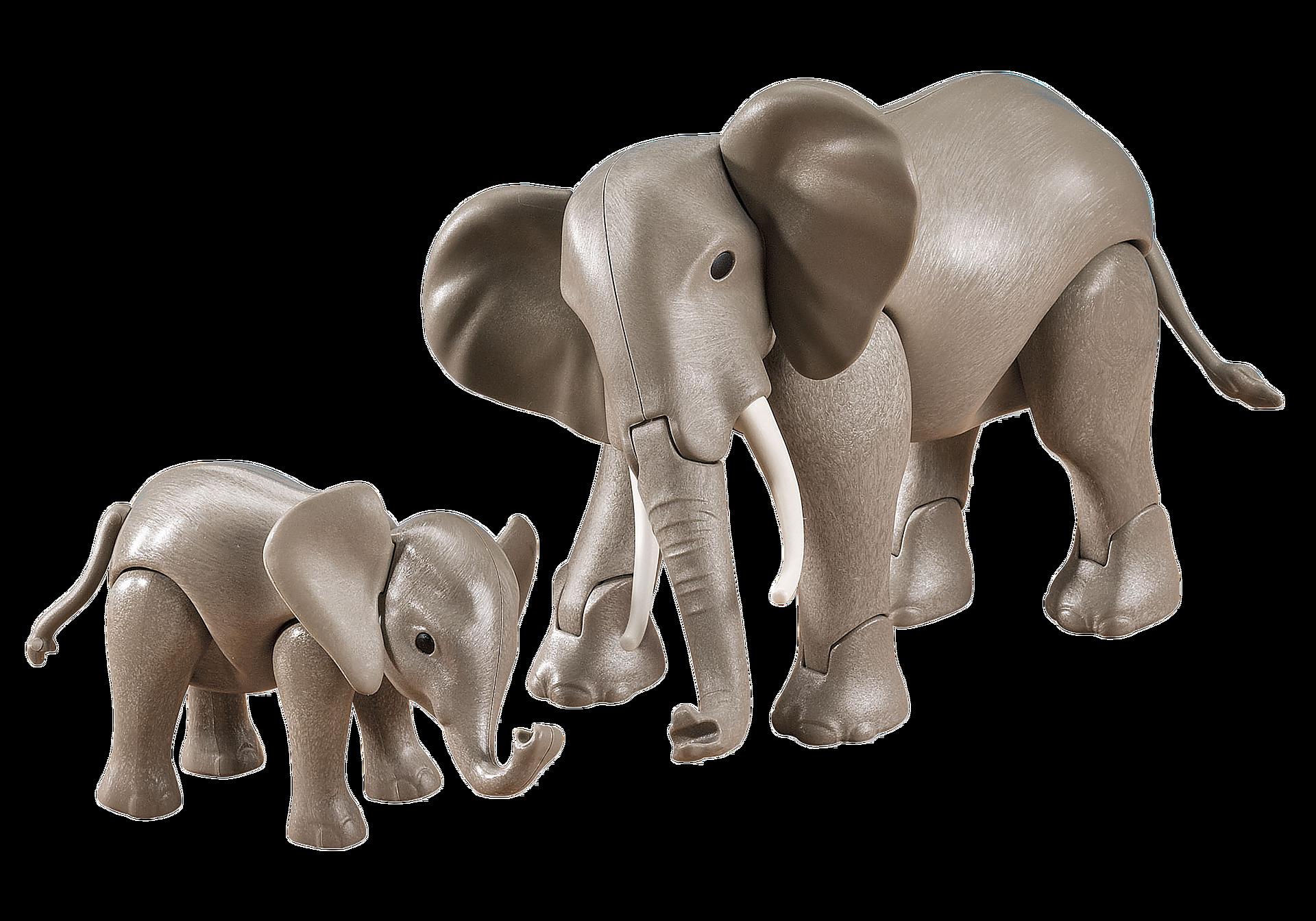7995 Éléphant et son petit zoom image1