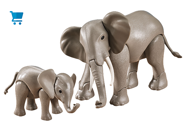 7995_product_detail/1 Large and 1 Small Elephant