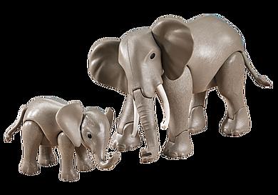 7995 Elephant with Baby