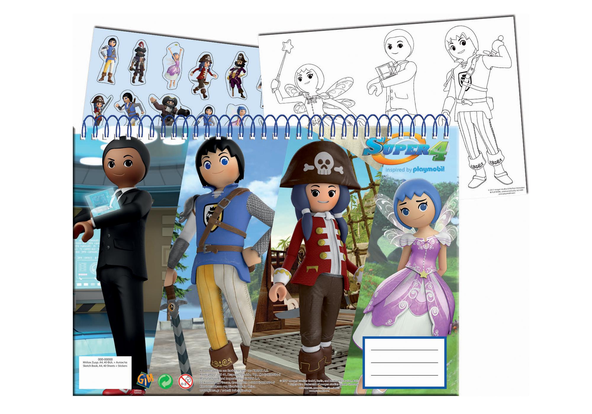 http://media.playmobil.com/i/playmobil/80081_product_detail/Sketchbook A4 mit Sticker - Super 4