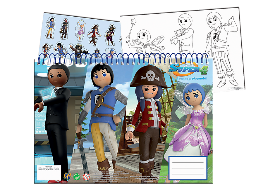 http://media.playmobil.com/i/playmobil/80081_product_detail/Sketchbook A4 mit Sticker - Super 4