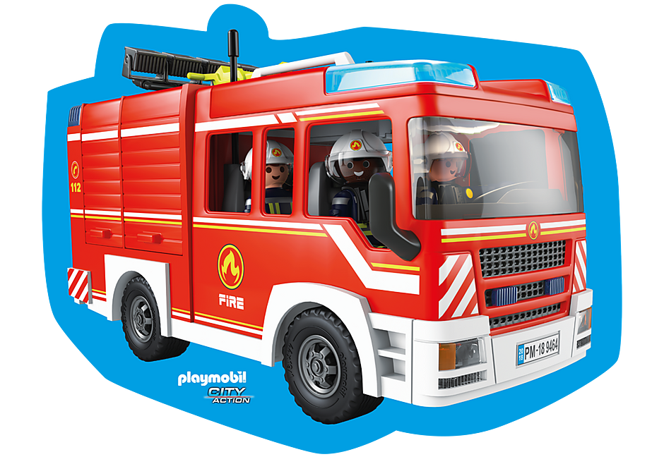 80215 Playmobil Kissen Feuerwehr detail image 1