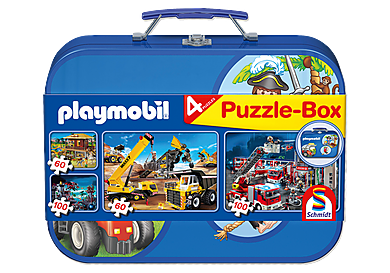 80247 Puzzle Box with 4 Puzzles