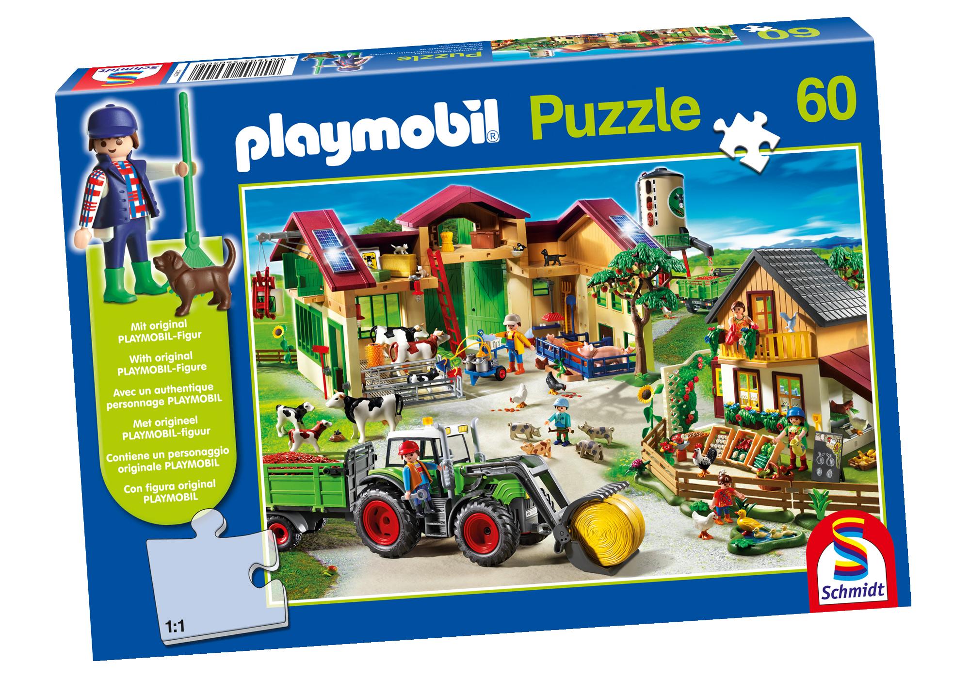 80352_product_detail/Puzzel - Op de bio-boerderij (60 puzzelstukken)