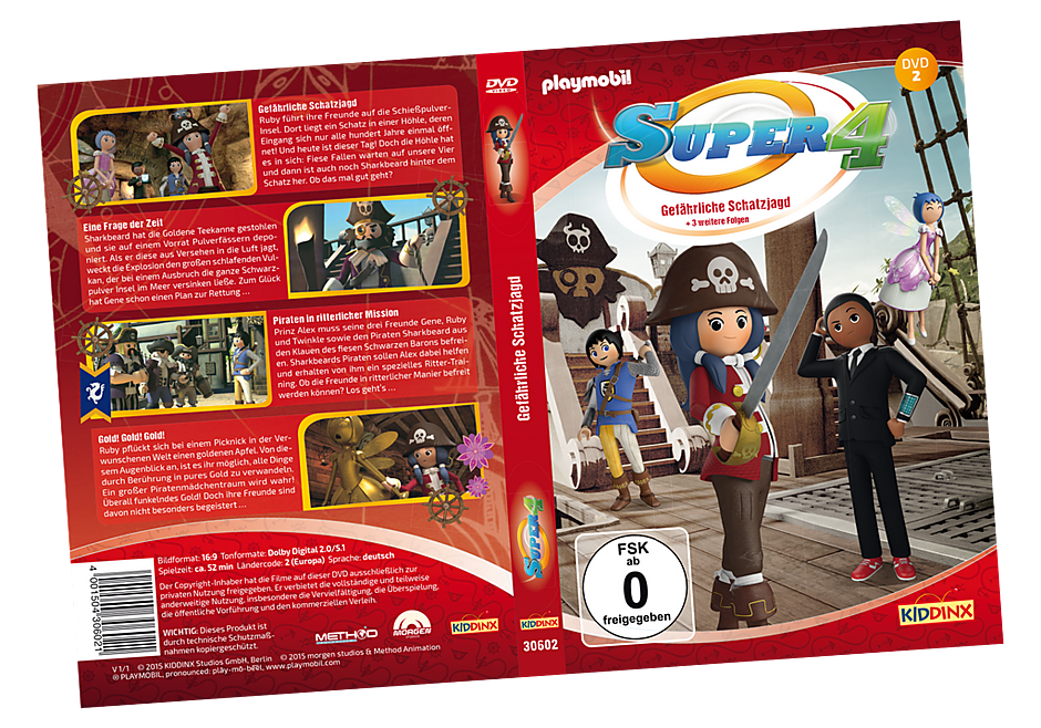 80477 DVD 2 Super4: Gefährliche Schatzjagd detail image 1
