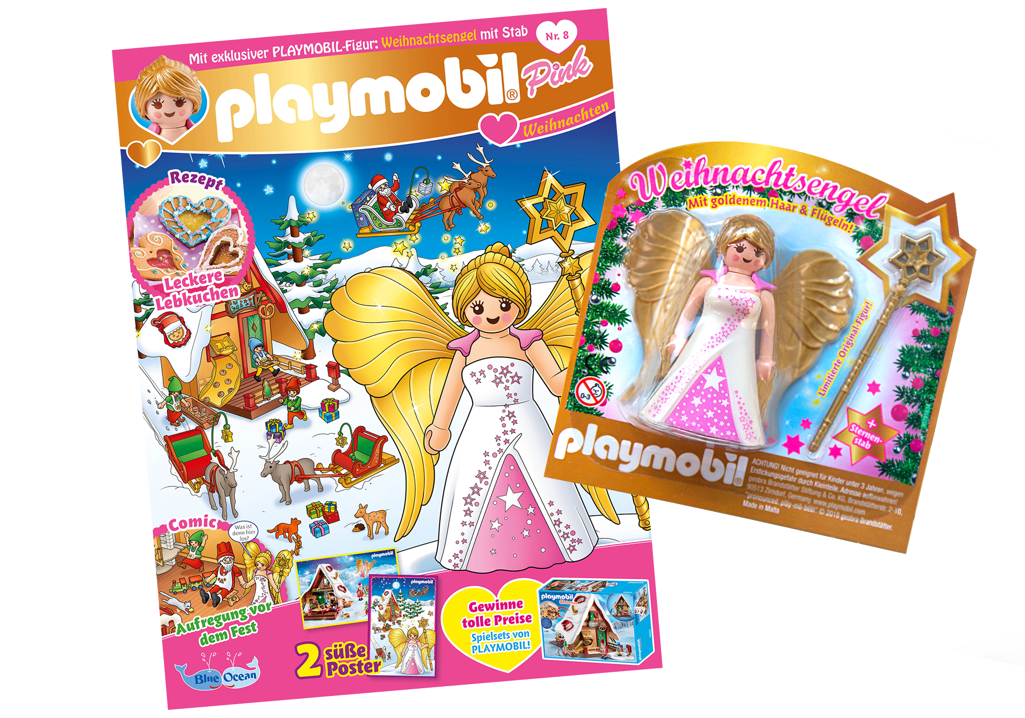 http://media.playmobil.com/i/playmobil/80617_product_detail/PLAYMOBIL-Magazin Pink 8/2018 (Heft 40)