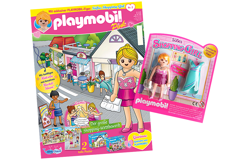 80621 PLAYMOBIL-Magazin Pink 2/2019 (Heft 42) detail image 1