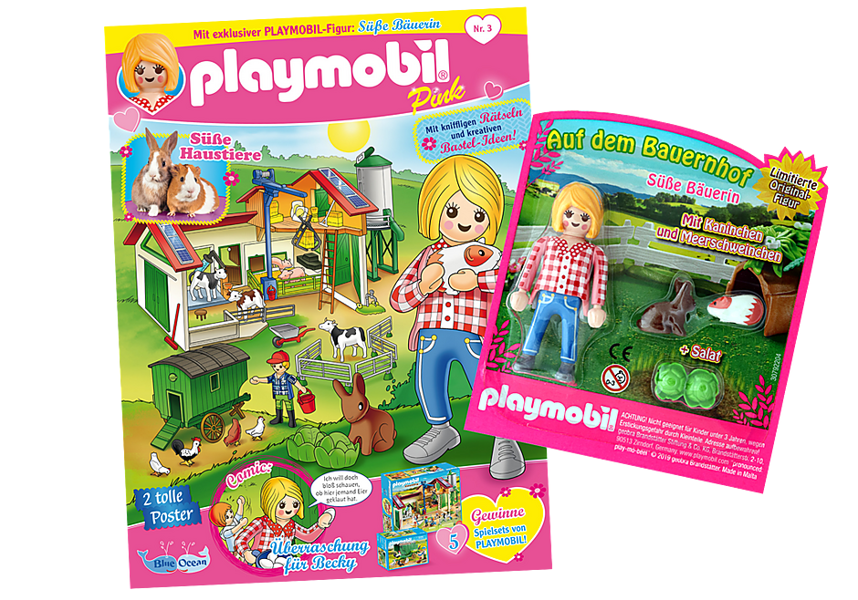 http://media.playmobil.com/i/playmobil/80625_product_detail/PLAYMOBIL-Magazin Pink 3/2019 (Heft 43)