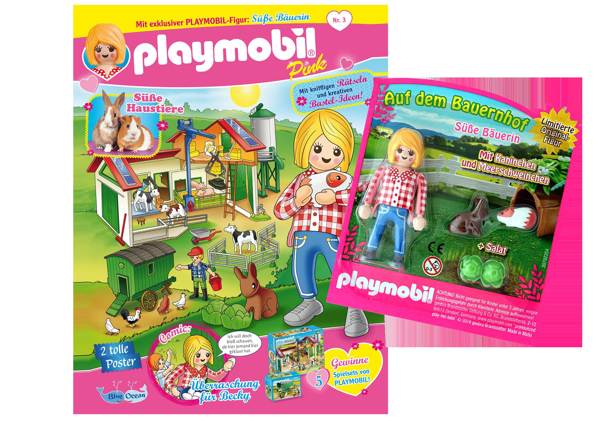 http://media.playmobil.com/i/playmobil/80625_product_detail/PLAYMOBIL-Magazin Pink 3/2019 (Heft 43)