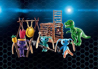 9006_product_detail/Alien-Krieger mit T-Rex-Falle