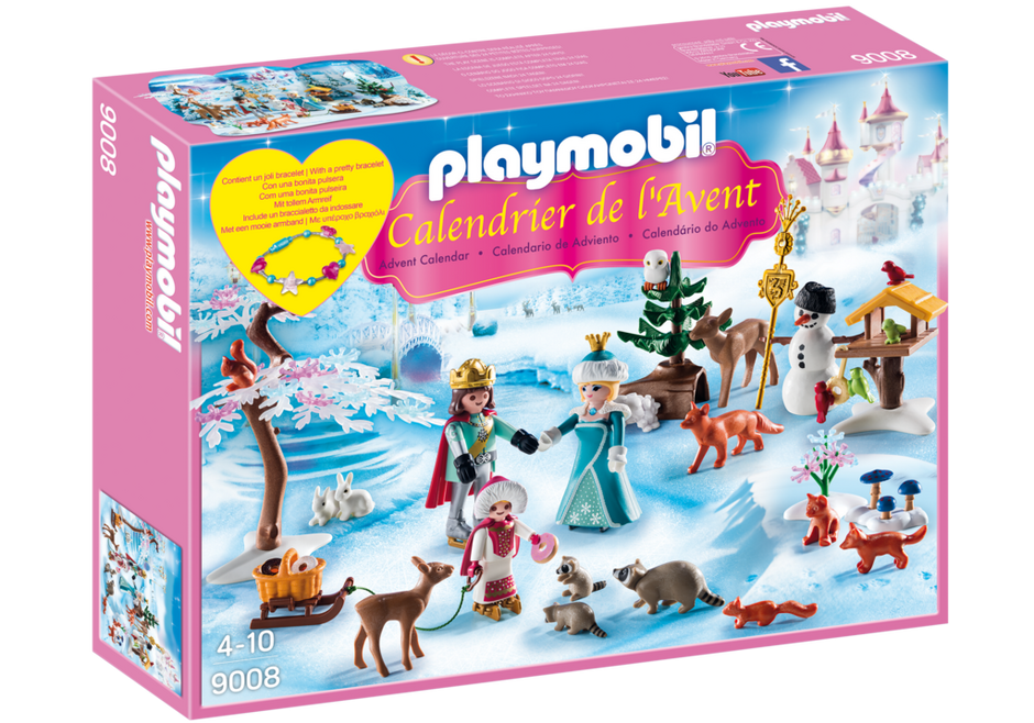 calendrier de l 39 avent famille royale en patins glace 9008 playmobil belgi. Black Bedroom Furniture Sets. Home Design Ideas
