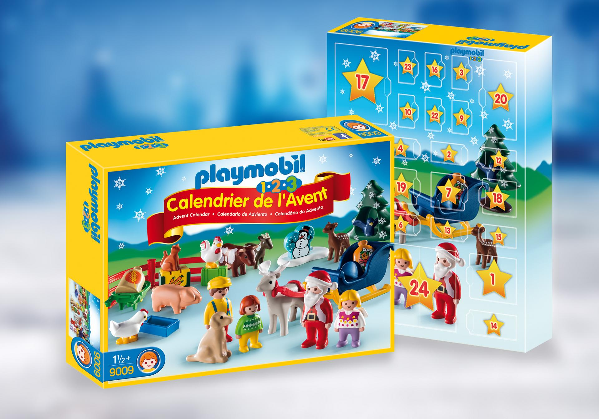 calendrier de l 39 avent 1 2 3 no l la ferme 9009 playmobil france. Black Bedroom Furniture Sets. Home Design Ideas